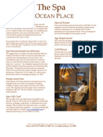 Spa Brochure 2010 - Ocean Place, Monmouth Long Branch, New Jersey, United States