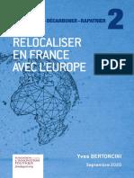 Fondapol Etude Relocaliser France Europe Yves Bertoncini 2020 09