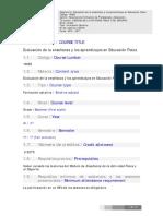 Bibliografía Asignatura Evaluación EF