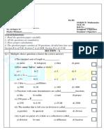 CBSE Class 3 Maths Question Paper Set C