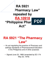 Pharmaceutical Jurisprudence and Relevant Administrative Order - HANDOUT