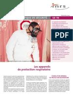 ED98 Les appareils de protection respiratoire