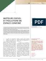 ND2239 Moteurs diesel et polution en espace confiné