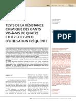ND2242 Tests de résistance chimique des gants