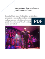 Kennetha Morris Dancer Learn to Dance - From Passion to Career