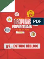 DISCIPLINA ESPIRITUAL - ESTUDO - #7