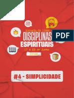 DISCIPLINA ESPIRITUAL - SIMPLICIDADE - #4