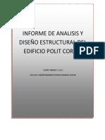 MEMORIA DE CÁLCULO DE ANÁLISIS Y DISEÑO ESTRUCTURA