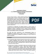 1 CHAMAMENTO PÚBLICO Nº 001.202020001CP