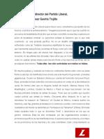 Carta César Gaviria sobre las protestas en el país