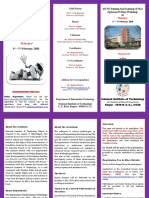Brochure of ATAL Sponsored Workshop on Robotics 3rd-7th Feb 2020