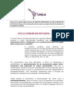 CICLO COMUM DE ESTUDOS - Introdução