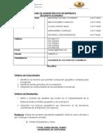PROTOCOLO- TALLER unidad 2  GEO ECON A1 B1