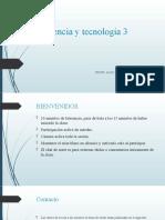 Ciencia y Tecnología 3 CLASE 1