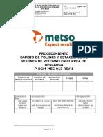 P-DGM-MEC-013 Proc.cambio de polines y estaciones de polines de retorno en correa de descarga
