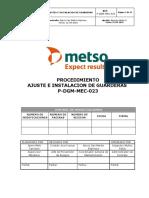 P-DGM-MEC-023 Proc. ajuste e instalación de Guarderas