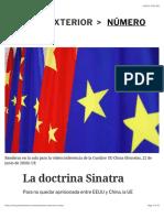 Josep Borrell - La doctrina sinatra 2020