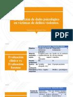 Evaluacion de Daño Psicologico en Victimas de Delitos Violentos.
