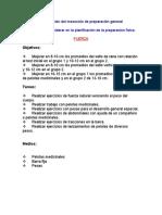 PLANIFICACION DE LA ETAPA DE PREPARACION GENERAL