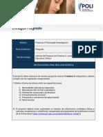 Guía proyecto de practica II - Investigación Educativa y Clínica