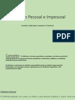 DIAPO-Infinitivo Pessoal e Impessoal