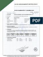 LM-AM004-2019 SERVICIO DE INGENIERÍA - calibración de pesas de trabajo ( CM-001 )