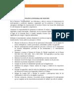 ACTIVIDAD 5 DOCUMENTO SOBRE LA POLÍTICA Y DESPLIEGUE DE OBJETIVOS