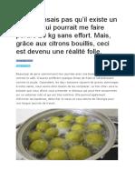 Perdre du poids avec remede Citron