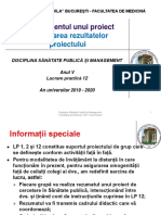 LP 12 - Managementul unui proiect 3. Prezentarea rezultatelor proiectului