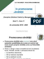 C 10 - Abordări in promovarea sanatatii