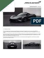 McLaren 765LT Order Summary