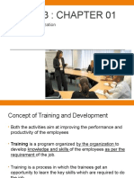 MGT 423 Chapter 1 - Training in Organization