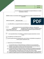 Formato de evaluación de conocimientos