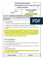 Questão 17 - NI 14 Controle Patrimonial de Bens Móveis - Revisada
