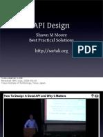 API Design, by Sartak