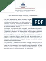 Compromiso Ético de los altos funcionarios con la ciudadanía y el presidente Luis Abinader (editable)