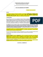 ACTA DE TRAMITE DE ABANDONO 2020