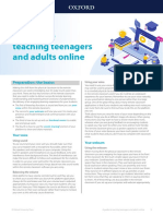 A guide to teaching teenagers and adults online