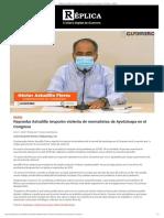 17-07-2020 Reprueba Astudillo irrupción violenta de normalistas de Ayotzinapa en el Congreso.