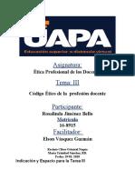 TAREA 3 ETICA PROFECIONAL DE LOS DOCENTES