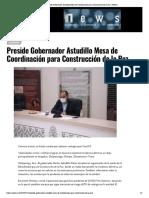 19-07-2020 Preside Gobernador Astudillo Mesa de Coordinación para Construcción de la Paz