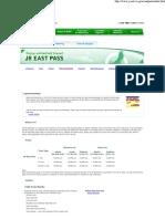 JR East Pass  Fares & Pass..
