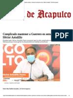 19-07-2020 Complicado mantener a Guerrero en semáforo naranja