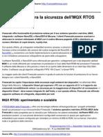 Freescale migliora la sicurezza dell'MQX RTOS - 2010-10-28