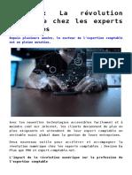 Evolution technologie expertise comptable