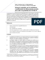 Avis comité auxiliaire CNC Août 2020 traitement comptable covid 19