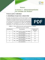 Anexo Intrucciones tarea 2 - dimensionamiento de un Lavador de Venturi