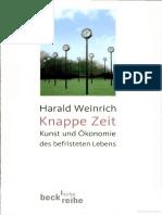 Harald Weinrich - Knappe Zeit _ Kunst und Ökonomie des befristeten Lebens -- TEXT.pdf
