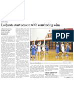Ladycats opening wins Part I