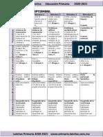 Septiembre - 3er Grado Dosificación (2020-2021)